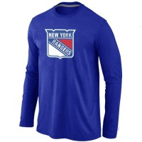 NHL New York Rangers Big & Tall Logo Long Sleeve T-Shirt Blue