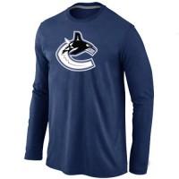 NHL Vancouver Canucks Big & Tall Logo Long Sleeve T-Shirt Dark Blue