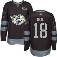 Nashville Predators #18 James Neal Black 1917-2017 100th Anniversary Stitched NHL Jersey