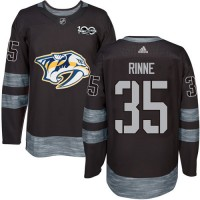Nashville Predators #35 Pekka Rinne Black 1917-2017 100th Anniversary Stitched NHL Jersey