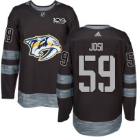 Nashville Predators #59 Roman Josi Black 1917-2017 100th Anniversary Stitched NHL Jersey