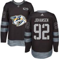 Nashville Predators #92 Ryan Johansen Black 1917-2017 100th Anniversary Stitched NHL Jersey