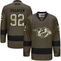 Nashville Predators #92 Ryan Johansen Green Salute to Service Stitched NHL Jersey