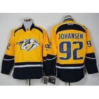 Nashville Predators #92 Ryan Johansen Yellow Home Stitched NHL Jersey