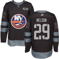 New York Islanders #29 Brock Nelson Black 1917-2017 100th Anniversary Stitched NHL Jersey