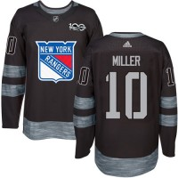 New York Rangers #10 J.T. Miller Black 1917-2017 100th Anniversary Stitched NHL Jersey