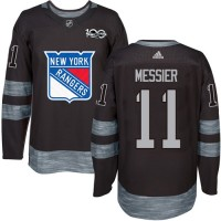 New York Rangers #11 Mark Messier Black 1917-2017 100th Anniversary Stitched NHL Jersey