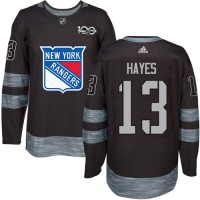 New York Rangers #13 Kevin Hayes Black 1917-2017 100th Anniversary Stitched NHL Jersey