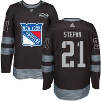 New York Rangers #21 Derek Stepan Black 1917-2017 100th Anniversary Stitched NHL Jersey