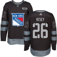 New York Rangers #26 Jimmy Vesey Black 1917-2017 100th Anniversary Stitched NHL Jersey
