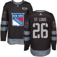 New York Rangers #26 Martin St.Louis Black 1917-2017 100th Anniversary Stitched NHL Jersey