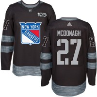 New York Rangers #27 Ryan McDonagh Black 1917-2017 100th Anniversary Stitched NHL Jersey