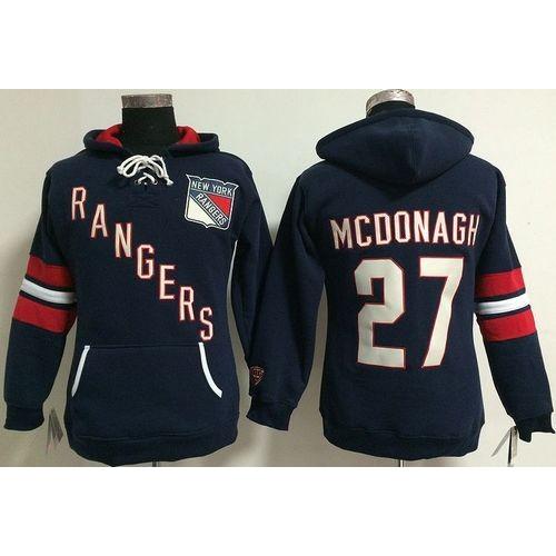 New York Rangers  27 Ryan McDonagh Navy Blue Women s Old Time Heidi NHL  Hoodie 79bda206b