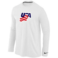 Nike USA Graphic Legend Performance Collection Locker Room Long Sleeve T-Shirt White