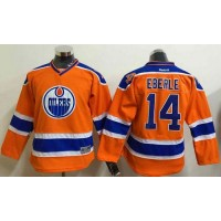 Oilers #14 Jordan Eberle Orange Stitched Youth NHL Jersey