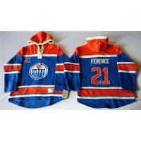 Oilers #21 Andrew Ference Light Blue Sawyer Hooded Sweatshirt Stitched NHL Jersey