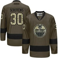 Oilers #30 Ben Scrivens Green Salute to Service Stitched NHL Jersey
