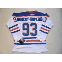 Oilers #93 Nugent-Hopkins White Stitched NHL Jersey