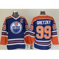 Oilers #99 Wayne Gretzky Light Blue CCM Throwback Stitched NHL Jersey