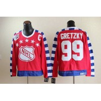 Oilers #99 Wayne Gretzky Red All Star CCM Throwback 75TH Stitched NHL Jersey
