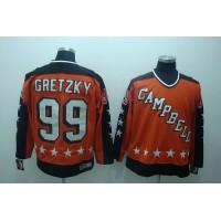 Oilers #99 Wayne Gretzky Stitched Orange NHL Jersey