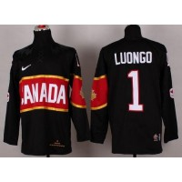 Olympic 2014 CA. #1 Roberto Luongo Black Stitched NHL Jersey