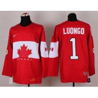 Olympic 2014 CA. #1 Roberto Luongo Red Stitched NHL Jersey