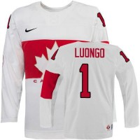 Olympic 2014 CA. #1 Roberto Luongo White Stitched NHL Jersey