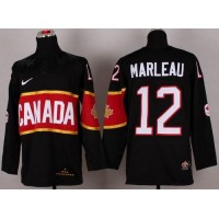 Olympic 2014 CA. #12 Patrick Marleau Black Stitched NHL Jersey