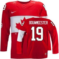 Olympic 2014 CA. #19 Jay Bouwmeester Red Stitched NHL Jersey