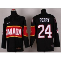 Olympic 2014 CA. #24 Corey Perry Black Stitched NHL Jersey