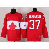 Olympic 2014 CA. #37 Patrice Bergeron Red Stitched NHL Jersey