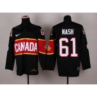 Olympic 2014 CA. #61 Rick Nash Black Stitched NHL Jersey