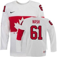 Olympic 2014 CA. #61 Rick Nash White Stitched NHL Jersey