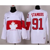 Olympic 2014 CA. #91 Steven Stamkos White Stitched NHL Jersey