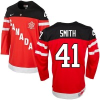 Olympic CA. #41 Mike Smith Red 100th Anniversary Stitched NHL Jersey