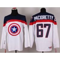 Olympic Team USA #67 Max Pacioretty White Captain America Fashion Stitched NHL Jersey