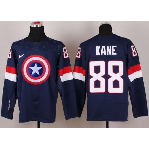 7a547355d2f coupon code for olympic team usa 88 patrick kane navy blue captain america  fashion stitched nhl