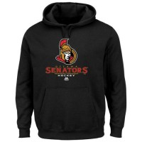 Ottawa Senators Majestic Critical Victory VIII Fleece Hoodie Black