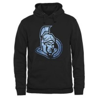 Ottawa Senators Rinkside Pond Hockey Pullover Hoodie Black