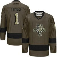 Panthers #1 Roberto Luongo Green Salute to Service Stitched NHL Jersey