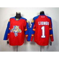 Panthers #1 Roberto Luongo Red Home Stitched NHL Jersey
