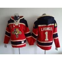 Panthers #1 Roberto Luongo Red Sawyer Hooded Sweatshirt Stitched NHL Jersey