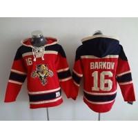 Panthers #16 Aleksander Barkov Red Sawyer Hooded Sweatshirt Stitched NHL Jersey