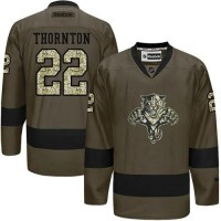 Panthers #22 Shawn Thornton Green Salute to Service Stitched NHL Jersey