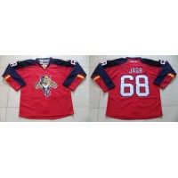 Panthers #68 Jaromir Jagr Red Home Stitched NHL Jersey