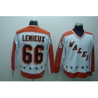 Penguins #66 Mario Lemieux Stitched White CCM All Star NHL Jersey