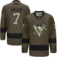 Penguins #7 Joe Mullen Green Salute to Service Stitched NHL Jersey