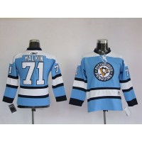 Penguins #71 Evgeni Malkin Stitched Blue NHL Jersey