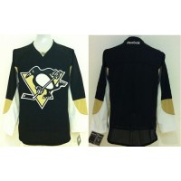 Penguins Blank Black Stitched Youth NHL Jersey